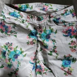 Aeropostale Ashley ultra skinny floral jeans 5/6